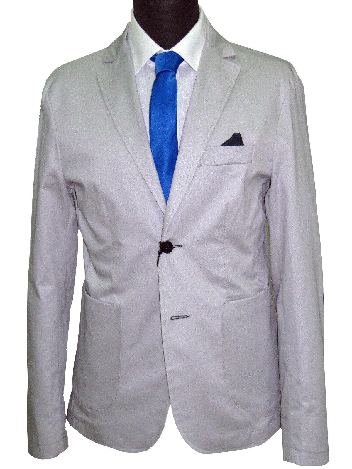 8744b093ded0b9 giacca uomo slim sartoriale con toppe cotone stretch made in italy  decostruita