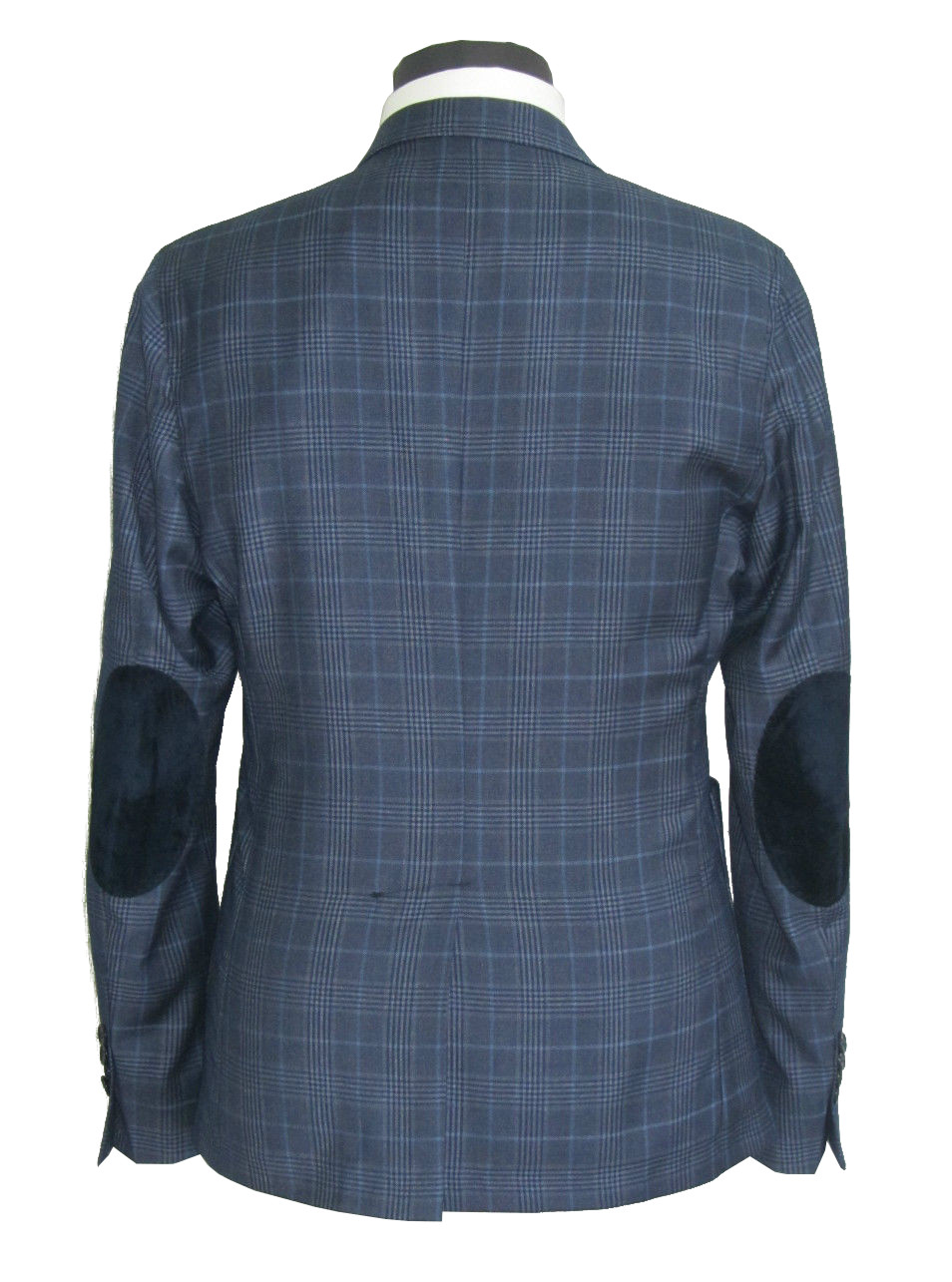 c5171ac268 giacca uomo slim sartoriale con toppe lana stretch made in italy ...