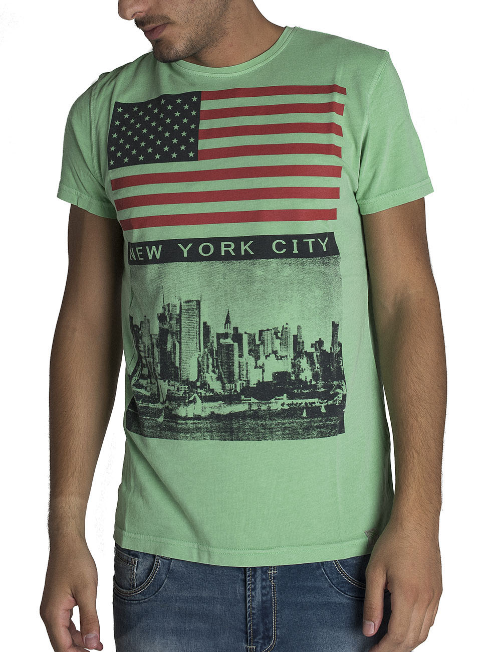 T-Shirt Uomo New York City NYC Estiva Slim Fit Puro Cotone M-3XL Superior 33757