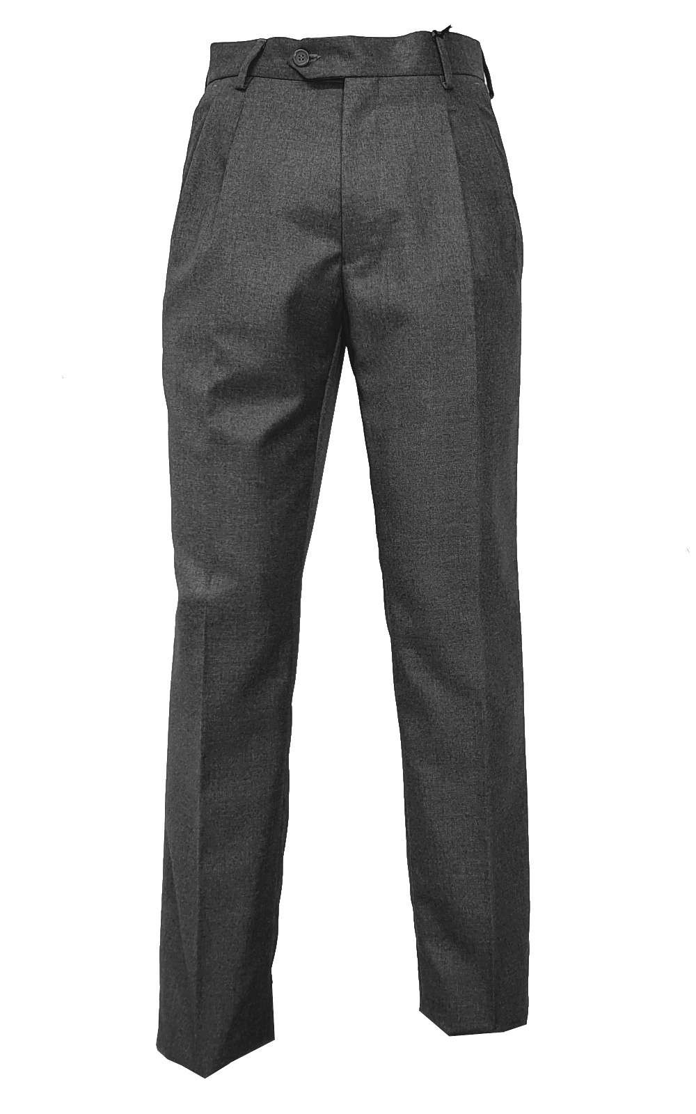 Pantalone Classico Lana Due Pinces Vigogna Made In Italy Tasca America 46 a 62