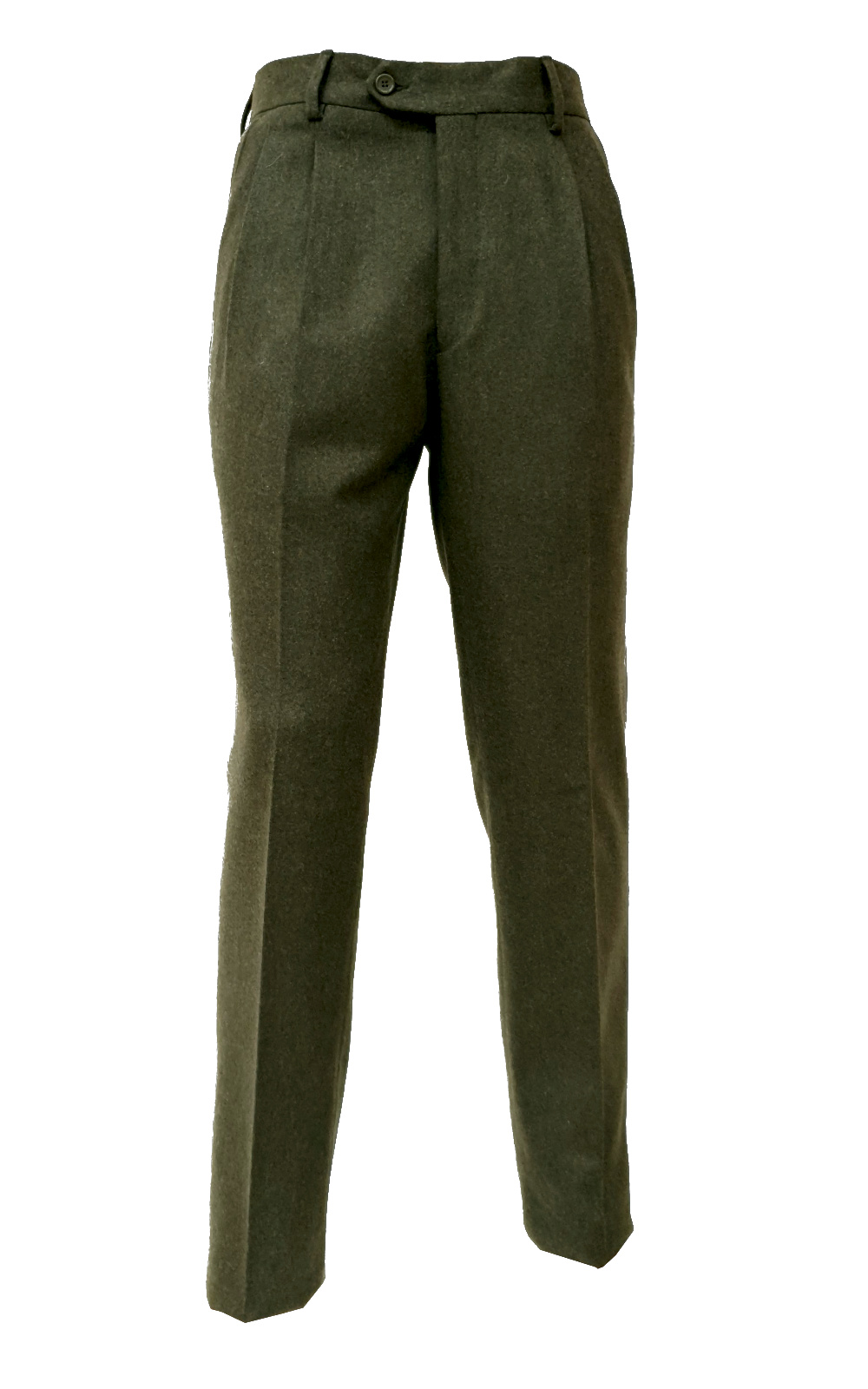 Pantalone Classico Lana Due pinces Flanella Made In Italy Tasca America M2204