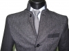 giacca giubbotto uomo slim sartoriale con toppe lana stretch made in italy new