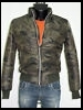 giubbotto bomber militare uomo giacca slim fit fashion trapunt made in italy new